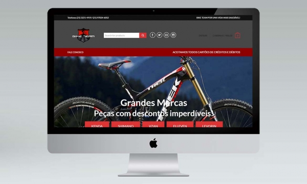 portfólio loja virtual Bike Team Bicicletas