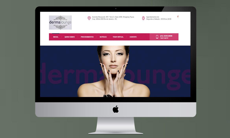 portfólio desenvolvimento de site dermalounge