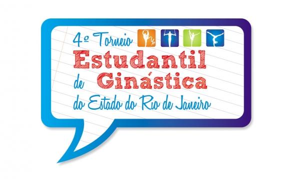portfólio criação de logomarca 4º torneio estudantil de ginástica do estado do rio de janeiro
