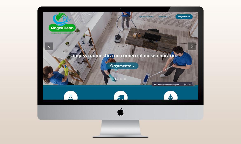 portfólio criação de logomarca desenvolvimento de site e marketing digital angel clean 3