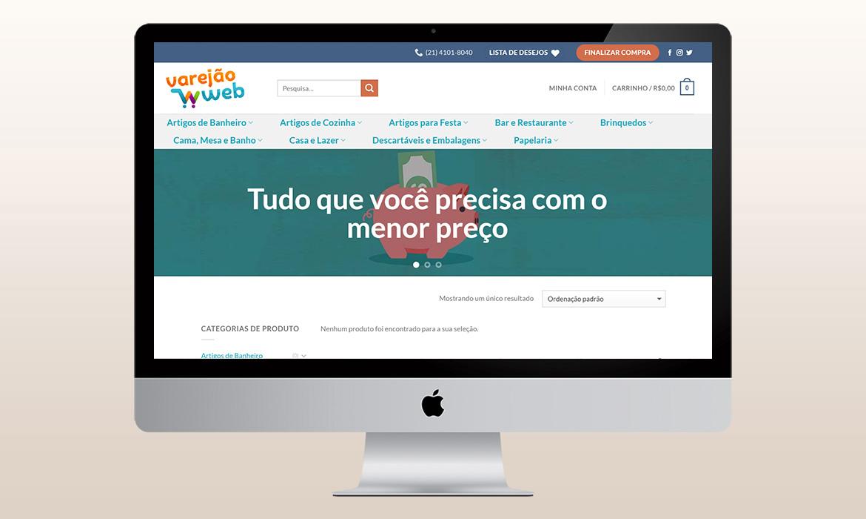 portfólio criação de logomarca e loja virtual varejão web 2