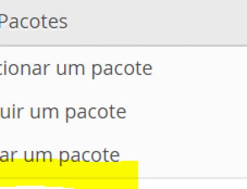 Editar pacote de hospedagem no Web Host Manager