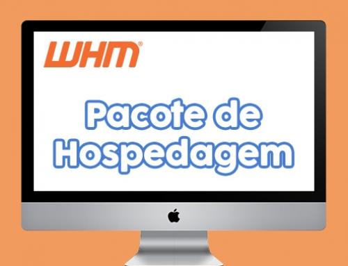 Adicionar pacote de hospedagem no Web Host Manager